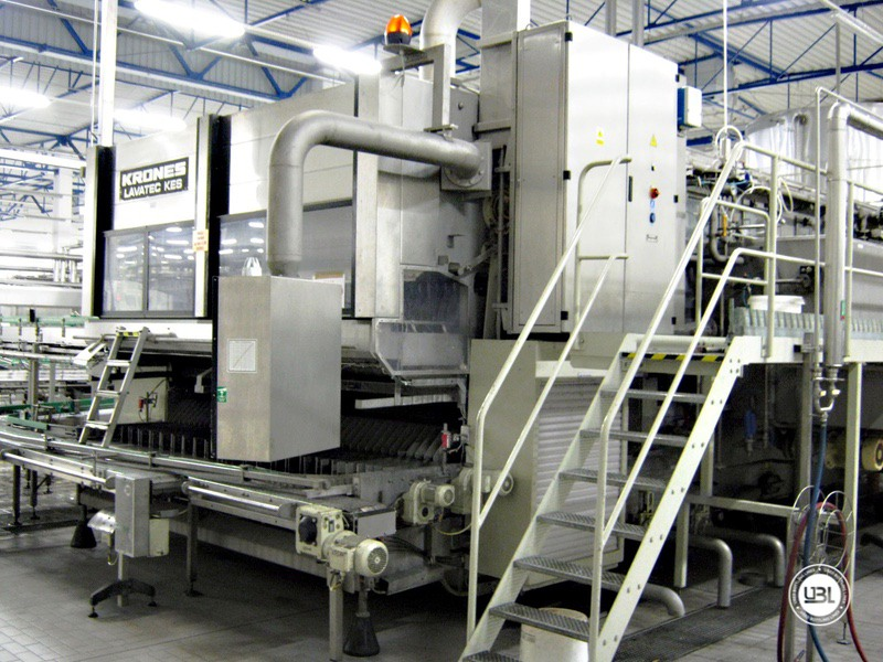 Used Bottle Washer Krones Lavatec KES-2-2-356-40-80 up to 64000 bph year 1998 - 2
