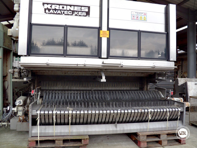 Used Bottle Washer Krones Lavatec KES-2-2-356-40-80 up to 64000 bph year 1998 - 9