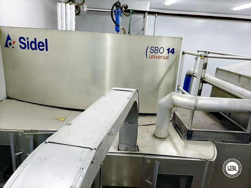 Linha de engarrafamento Sidel usada completa para água sem gás com velocidade de 25.000 bh - 1