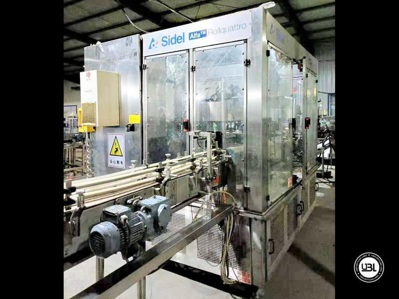 Linha de engarrafamento Sidel usada completa para água sem gás com velocidade de 25.000 bh - 7