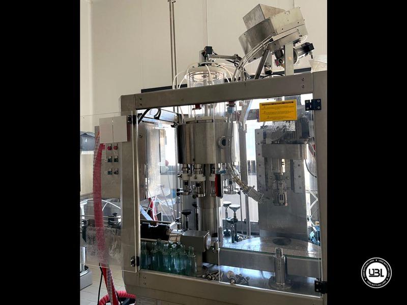Llenado Monobloque usado Calò Gualtiero & Figli Monoblocco Luca 9 cabezales VITE D. S. para Aceite año 2000 Sistema de alto vacío - 6