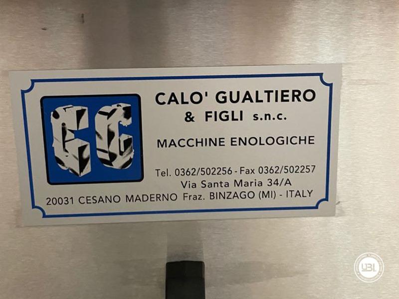 Llenado Monobloque usado Calò Gualtiero & Figli Monoblocco Luca 9 cabezales VITE D. S. para Aceite año 2000 Sistema de alto vacío - 7