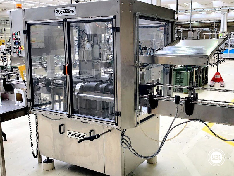 Used automatic capsuling machine Nortan Prisma 4T thermo shrink capsule up to 6000 bph - 1