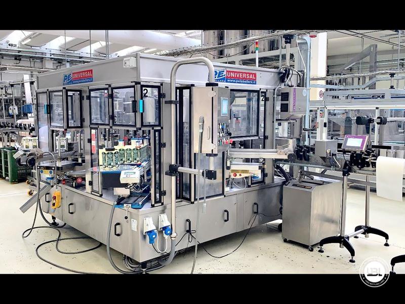 Etiquetadora automática rotativa usada P.E. Etiquetadoras modelo Universal Master 6000 bph año 2006 - 1