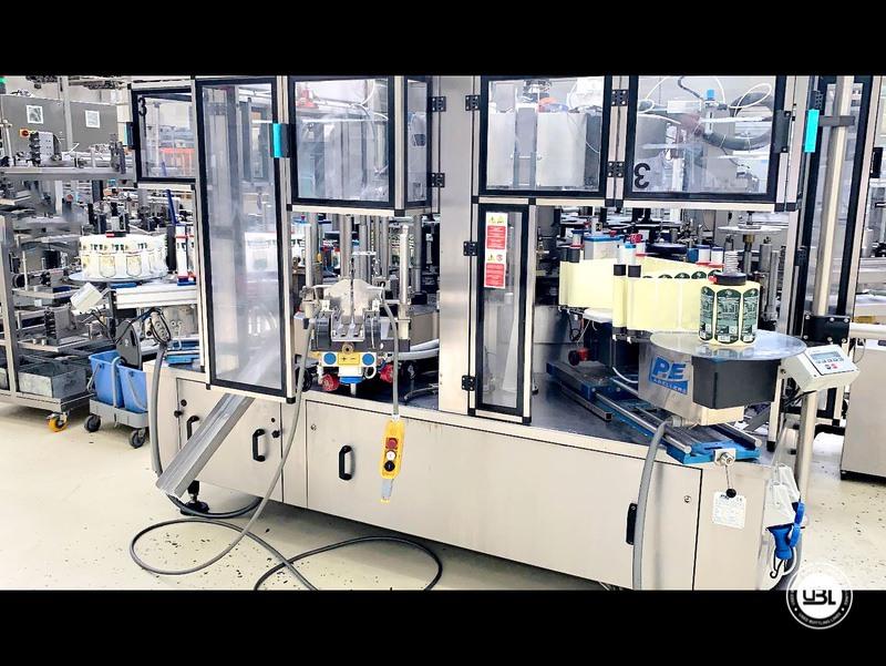 Etiquetadora automática rotativa usada P.E. Etiquetadoras modelo Universal Master 6000 bph año 2006 - 3