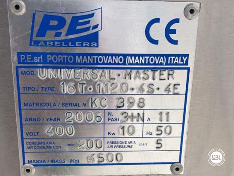 Etiquetadora automática rotativa usada P.E. Etiquetadoras modelo Universal Master 6000 bph año 2006 - 7